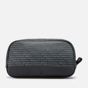 Armani Exchange Men's All Over Print Wash Bag - Black
