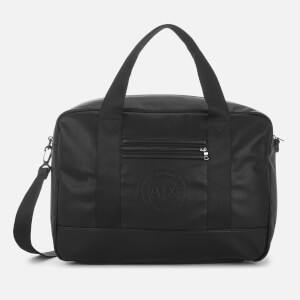 Armani Exchange Men's Bebossed Logo Overnight Bag - Black