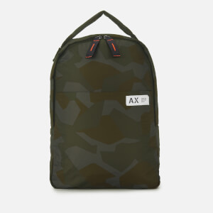 Armani Exchange Men's Padded Nylon Backpack - Green Camo