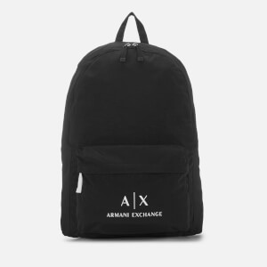 Armani Exchange Men's Contrast Logo Backpack - Black