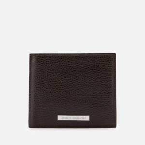 Armani Exchange Men's Bifold Wallet with Credit Card Holder - Dark Brown