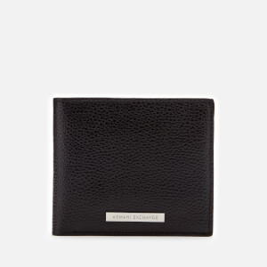Armani Exchange Men's Bifold Wallet with Credit Card Holder - Black