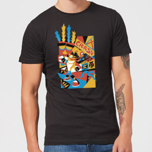 T-Shirt Homme Géo Crash Bandicoot - Noir