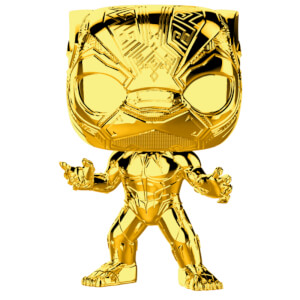 Marvel MS 10 Black Panther Gold Chrome Funko Pop! Vinyl