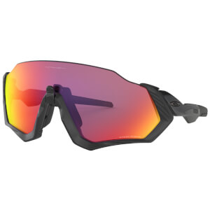 Oakley Flight Jacket Sunglasses - Polished Black/Prizm Road