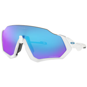Oakley Flight Jacket Sunglasses - Polished White/Prizm Sapphire