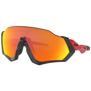 Oakley Flight Jacket Polarised Sunglasses - Redline/Prizm Ruby