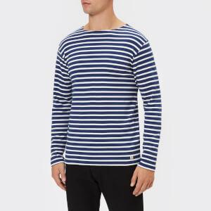 Armor Lux Men's Mariniere Heritage Long Sleeve T-Shirt - Polo/Milk
