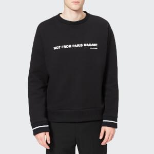 Drôle de Monsieur Men's Slogan Brushed Sweatshirt - Black