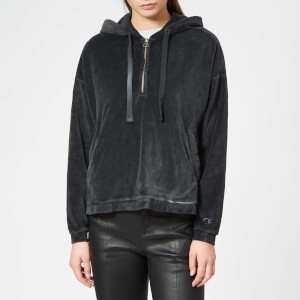 Champion Women's Maxi Hooded Half Zip Top - Black