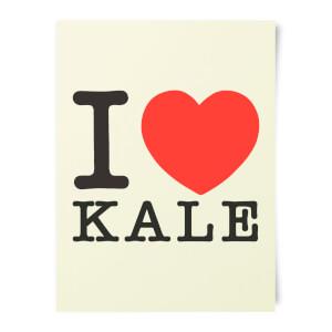 I Heart Kale Art Print