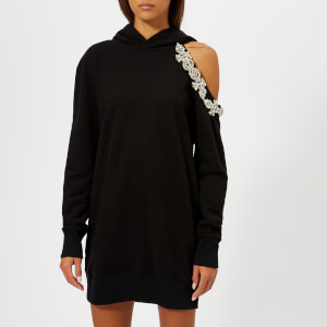 Christopher Kane Women's DNA Cut Out Hoody Dress - Black