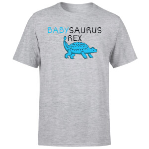 Babysaurus Rex Men's T-Shirt - Grey
