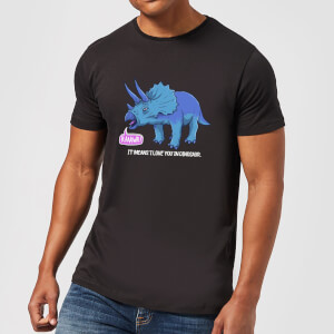 Rawr It Means I Love You In Dinosaur Men's T-Shirt - Black