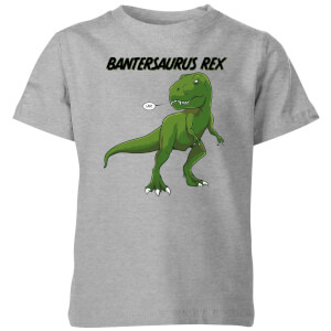 Bantersaurus Rex Kids' T-Shirt - Grey