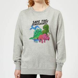 Save The Dinosaurs Women's Sweatshirt - Grey