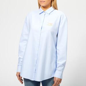Tommy Hilfiger Women's Icons Girlfriend Shirt - Blue