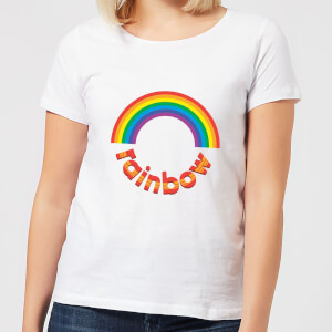 Rainbow Circle Logo Frauen T-Shirt – Weiß