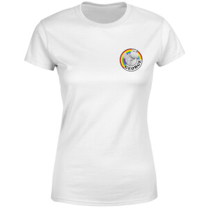 Rainbow George Pocket Women's T-Shirt - White