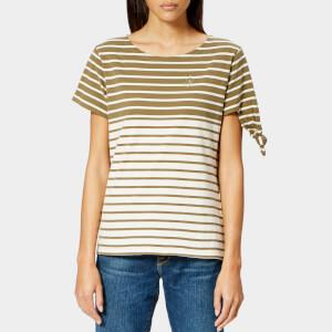 JW Anderson Women's Breton Stripe Knot T-Shirt - Khaki Stripe