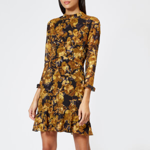 Whistles Women's Mackintosh Print Eleanor Dress - Yellow/Multi