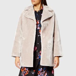 Whistles Women's Faux Fur Cocoon Coat - Lilac