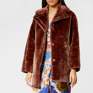 Whistles Women's Faux Fur Cocoon Coat - Brown