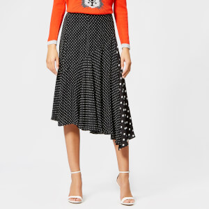 Whistles Women's Spot Print Asymmetric Skirt - Black/White