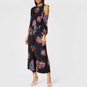 Whistles Women's Freya Print One Shoulder Jumpsuit - Black/Multi