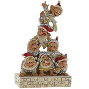 Disney Traditions Precarious Pyramid Seven Dwarfs Figurine