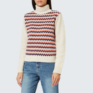 A.P.C. Women's Directrice Roll Neck Jumper - Ecru