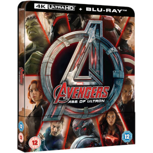 Vengadores: La era de Ultrón 4K Ultra HD (incluye versión 2D) - Steelbook Exclusivo de Zavvi UK