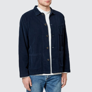 Universal Works Men's Bakers Overshirt - Navy