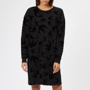 McQ Alexander McQueen Women's Cut Up Long Sleeve Dress - Darkest Black