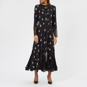 McQ Alexander McQueen Women's Panelled Maxi Dress - Darkest Black