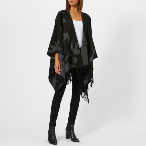 McQ Alexander McQueen Women's Swallow Poncho - Black: Image 3