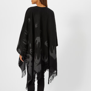 McQ Alexander McQueen Women's Swallow Poncho - Black: Image 2