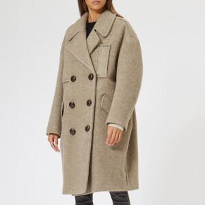 Isabel Marant Women's Etim Wooly Coat - Taupe