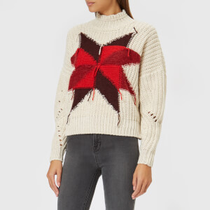 Isabel Marant Women's Hanoi Zip Up Jumper - Ecru