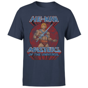 He-Man Distressed Men's T-Shirt - Navy