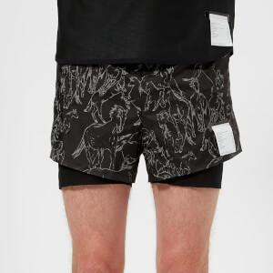 "Satisfy Men's Short Distance 3"" Shorts - Mustangs"