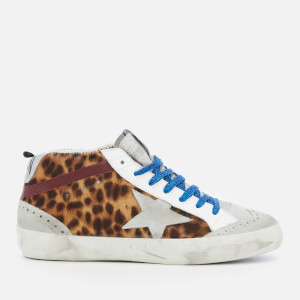 Golden Goose Deluxe Brand Women's Mid Star Trainers - Spotted Horsy/Grey Star