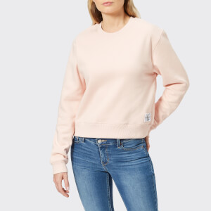 Calvin Klein Women's Monogram Badge Relaxed Crew Neck Sweatshirt - Chintz Rose