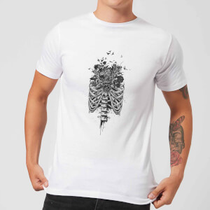 Balazs Solti Ribcage And Flowers Men's T-Shirt - White