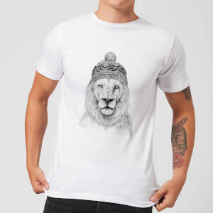 Lion With Hat Men's T-Shirt - White