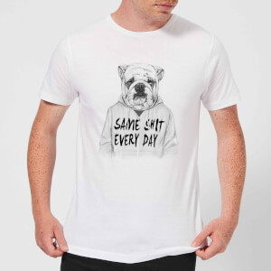 Balazs Solti Same Shit Every Day Men's T-Shirt - White