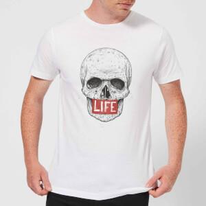 Balazs Solti Life Skull Men's T-Shirt - White