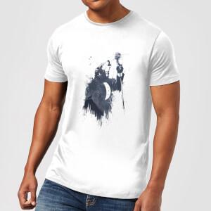 Balazs Solti Singing Wolf Men's T-Shirt - White