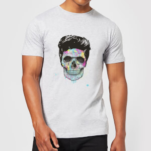 Balazs Solti Colourful Skull Men's T-Shirt - Grey