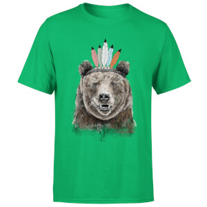 Balazs Solti Native Bear Men's T-Shirt - Kelly Green